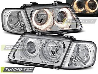 Angel Eyes Scheinwerfer Set Audi A3 8L BJ 08.96-08.00 Klarglas / Chrome