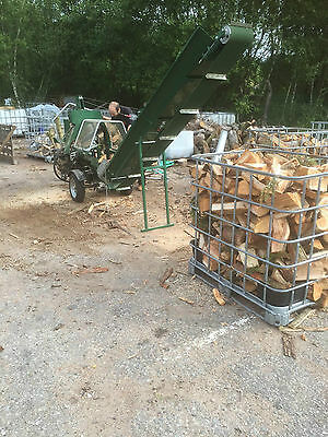 Log Processor hire with 2 men firewood biomass logs stoves splitter fuel wood