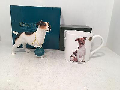 Jack Russell Dog Studies Terrier by Leonardo Figurine & Mug Gift Set *BOXED*