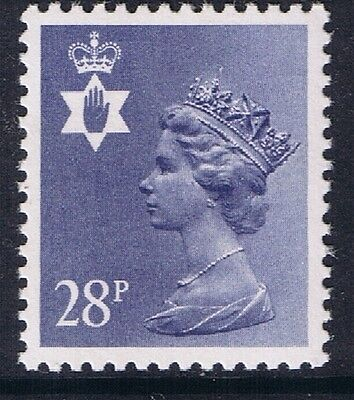 GB QEII Northern Ireland. SG NI62 28p Dp Violet-Blue PP. Regional Machin.