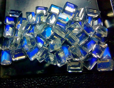 6x4mm - 7x5mm Natural Natural Rainbow Moonstone Octagon Cut Loose Gemstone