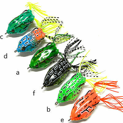 6pcs Soft Lures Fishing Lure Set Soft Bait Frog Baits Tackle 5.5cm/12.5g