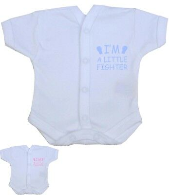 BABYPREM Baby Clothes Premature SCBU Newborn NICU Popper Vest Fighter 1.5-7.5lb