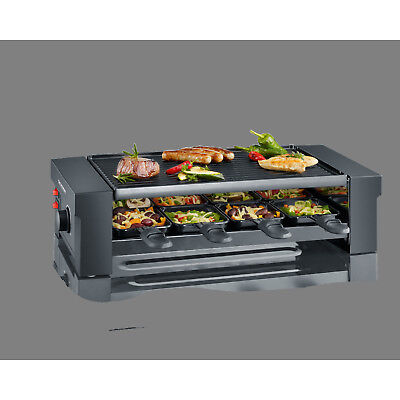 Severin RG2687 Pizza-Grill/Raclette-Gril 8 Pfännchen, Pizza- Raclette Grill