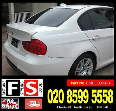 Bmw 3 Series E90 05-13 M Sport Boot Spoiler Trunk Lid 4Dr Lip Solid Abs Plastic