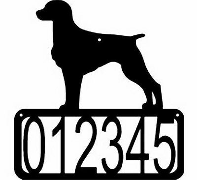 Brittany Dog CUSTOM Personalized ADDRESS House Number Wall Sign Made USA