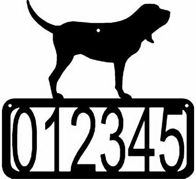 BLOODHOUND Dog CUSTOM Personalized ADDRESS House Number Sign Made USA