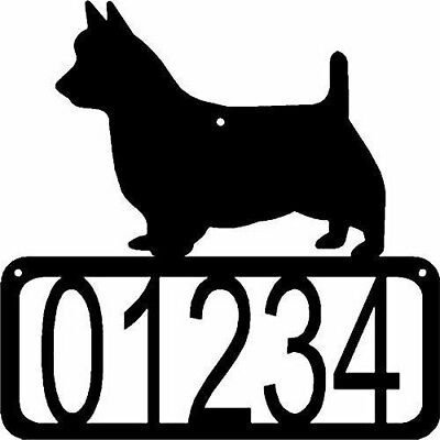 AUSTRALIAN TERRIER Dog CUSTOM Personalized ADDRESS House Number Sign Made USA