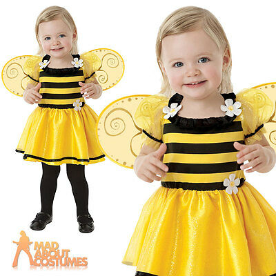 Baby Little Stinger Costume Girls Buzzy Bumble Bee Fancy Dress Insect Toddler