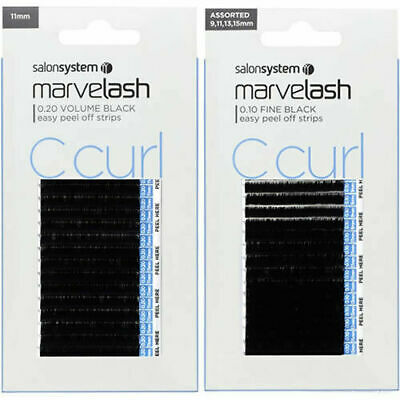 MARVELASH Semi-Permanent Eyelashes C Curl - ALL New Sizes and Branding Avaiable