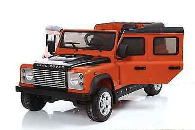 Land Rover Defender - 12V Licensed Electric Ride On - Orange