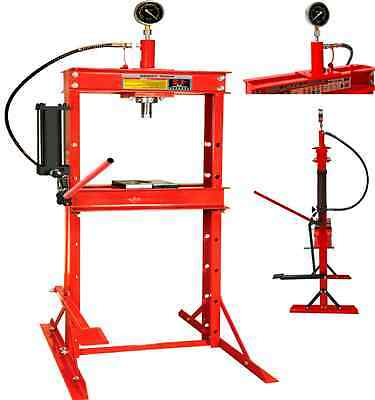 12 Ton Hydraulic Worksop Press Floor Standing Plates Garage Shop With Foot Pedal