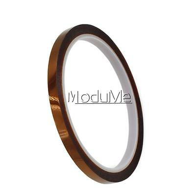 6mm X 33m 100ft Kapton Tape BGA High Temperature Heat Resistant Polyimide New MO