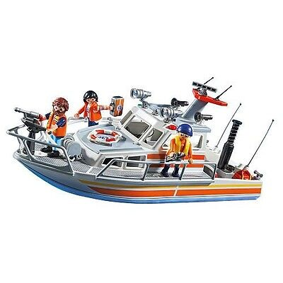 PLAYMOBIL Rescue Boat with Water Hose