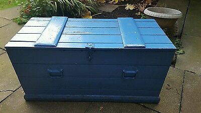 Antique  CHEST, Wooden TRUNK, Coffee TABLE, Vintage Toy Storage BOX Vintage