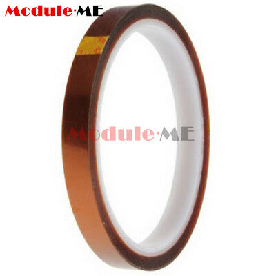 10mm 100ft Kapton Tape BGA Heat Resistant High Temperature Polyimide Gold NEW UK