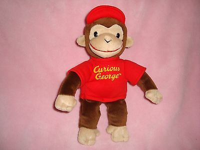 "Curious George Monkey wearing hat Plush Gund 10"" tall"