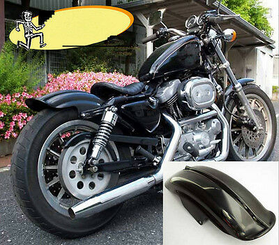Rear Black Mudguard Fender For Harley Sportster Solo Bobber Chopper Cafe Racer D