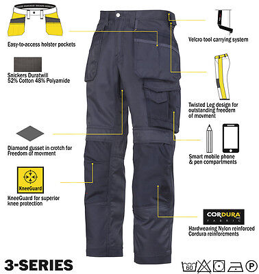 Snickers Trousers 3212 3 Series Mens Work Trousers Snickers Direct Free Shipping