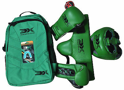 Kids Boxing Gloves Head Guard Junior UFC Groin Protector Mouth carry bag