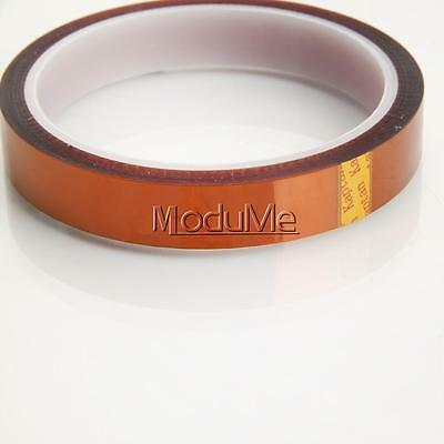 15mm 1.5cm X 33m 100ft Kapton Tape High Temperature Heat Resistant Polyimide MO