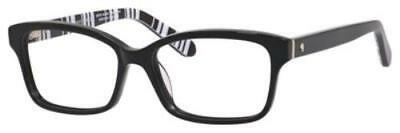 KATE SPADE Eyeglasses SHARLA 0QG9 Black Pattern White 51MM