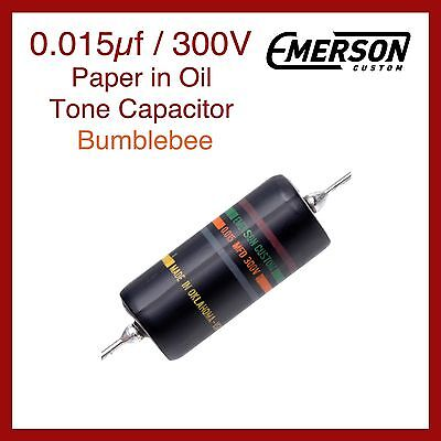 Emerson Custom 0.015µf / 300V Paper in Oil Tone Capacitor - Bumblebee