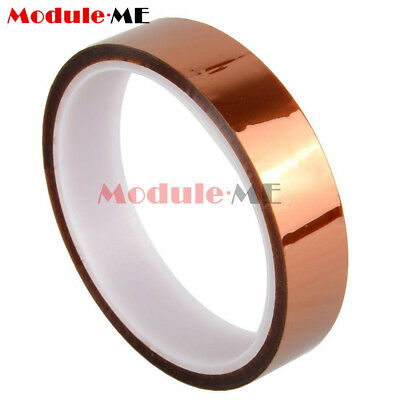 20mm 100ft Gold Heat Resistant High Temperature Kapton Tape Polyimide NEW MO