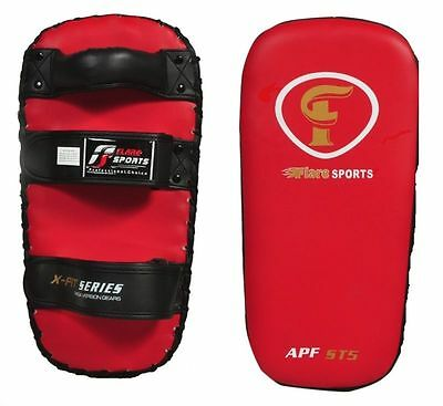 Flaresports Thai pad kickboxing MMA curved punch strike kick focus training PAIR