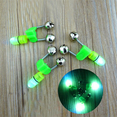 10X Outdoor Night Fishing Accessory Rod LED Light Fish Bite Double Alarm Bells