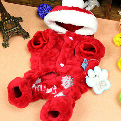 Pet Dog Hoodie Christmas Clothes Jacket Coat Puppy Cat Costume Apparel Winter