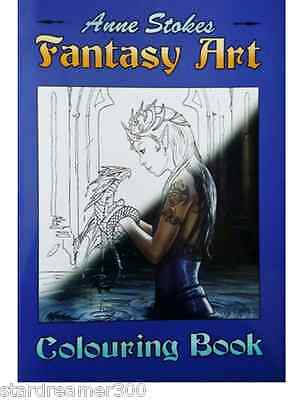Anne Stokes Colouring Book color Mythical Gothic Fantasy Art Fairy Dragon Goth