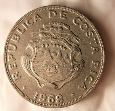 1968 COSTA RICA COLON - Uncommon Vintage Coin - Costa Rica Bin