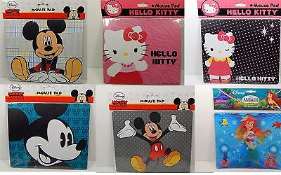 Mouse Pad Mickey Mouse / Hello Kitty / Ariel 6 Different Designs For Laptop / PC