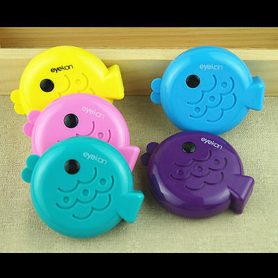 Colorful Cute Fish Eye Contact Lens Case Box Mirror Container Holder Travel Kit