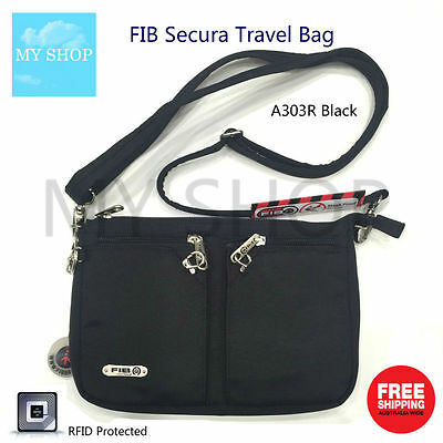 FIB Anti-Theft Urban Shoulder Bag with RFID Blocking Cut Proof Strap --A303R