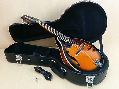Smoky Mountain Sunburst A-style electric-mandolin w/lockable hard case SM66EVSB