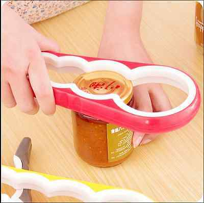 4 Sizes in 1 Rubber Gourd-shaped Can Jar Bottle Kitchen Opener Twister Wrench