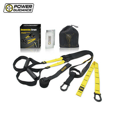 Suspension Straps with Adjustable Buckles and Grip Handles for Power Training