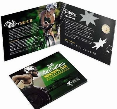 2016 $2 Australian Paralympic Team Rio Olympic Games Coloured Coin In Folder