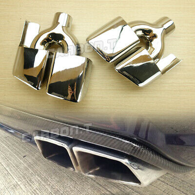 Exhaust Dual Tips For Mercedes-Benz W212 4D 2D E63AMG Look 11-15