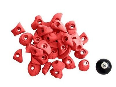 Atxarte Bolt-On Feet Climbing Holds, Red