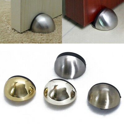 Metal Oval Door Stop Door Stopper Floor Doorstop Rubber Interior Holder Home