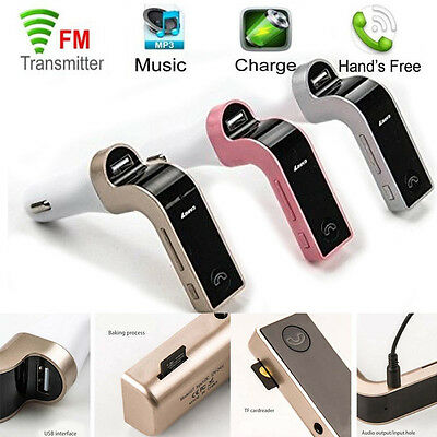 Bluetooth Handsfree Car Kit LCD MP3 Player FM Transmitter for iPhone Samsung