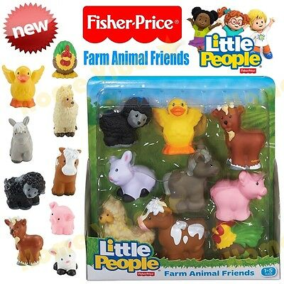 New Fisher Price Little People Farm Animal Friends 9-Pack Age 1-5 Boy Girl Gift