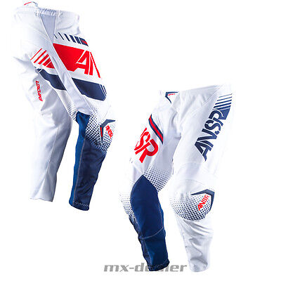 2017 Answer Racing Syncron weiss rot blau motocross Cross Enduro Hose 32 34 36