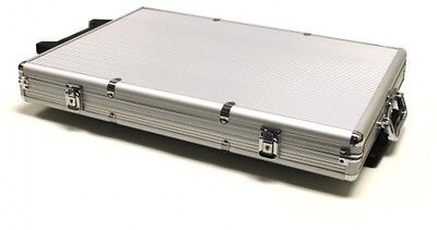1000-Count Aluminum Rolling Poker Chip Case game cards play casino Free Ship