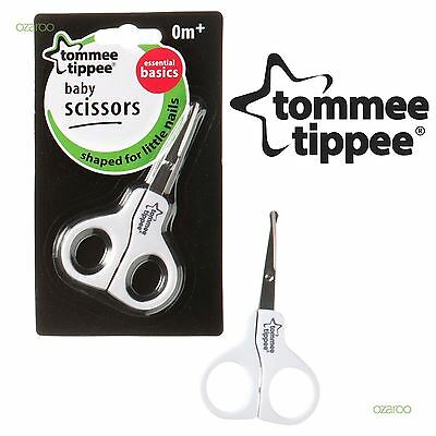 New Tommee Tippee Essential Basics Baby Grooming Healthcare Nail Scissors 0m+