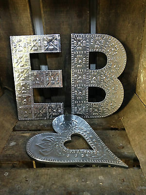 20cm A-Z Alphabet Aluminium Letters Wall Hanging Gift Signs Home Wedding Names