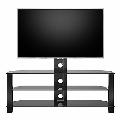 Home Cantilever Glass TV Stand with Bracket for 32 to 55'' Plasma LCD TV